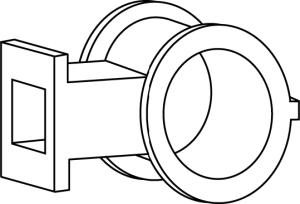non-collapsible nylon lockset insert •Eliminates lockset loosening •No wood block to deteriorate or absorb moisture