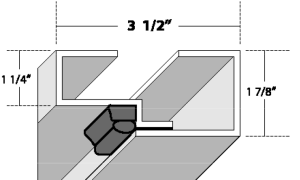 16 Ga. Steel Frame Dual contact weather strip