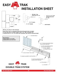 Easy Trak Installation Guide