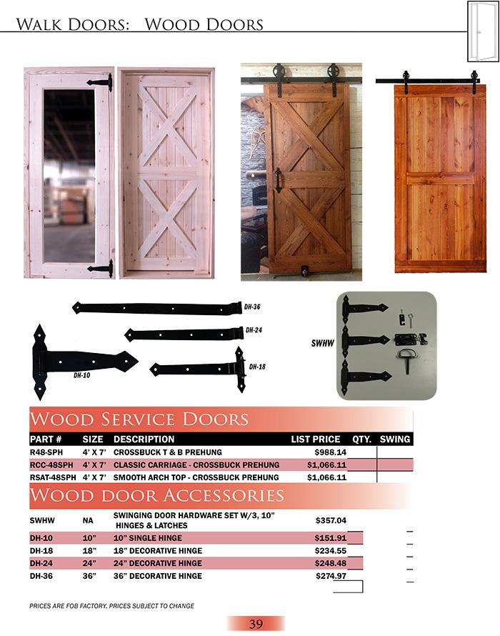 Wood Service Doors