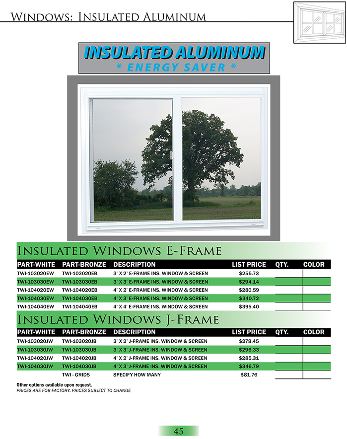 Insulated Aluminum Windows