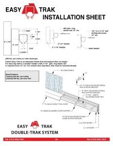 Easy Trak Installation Guide