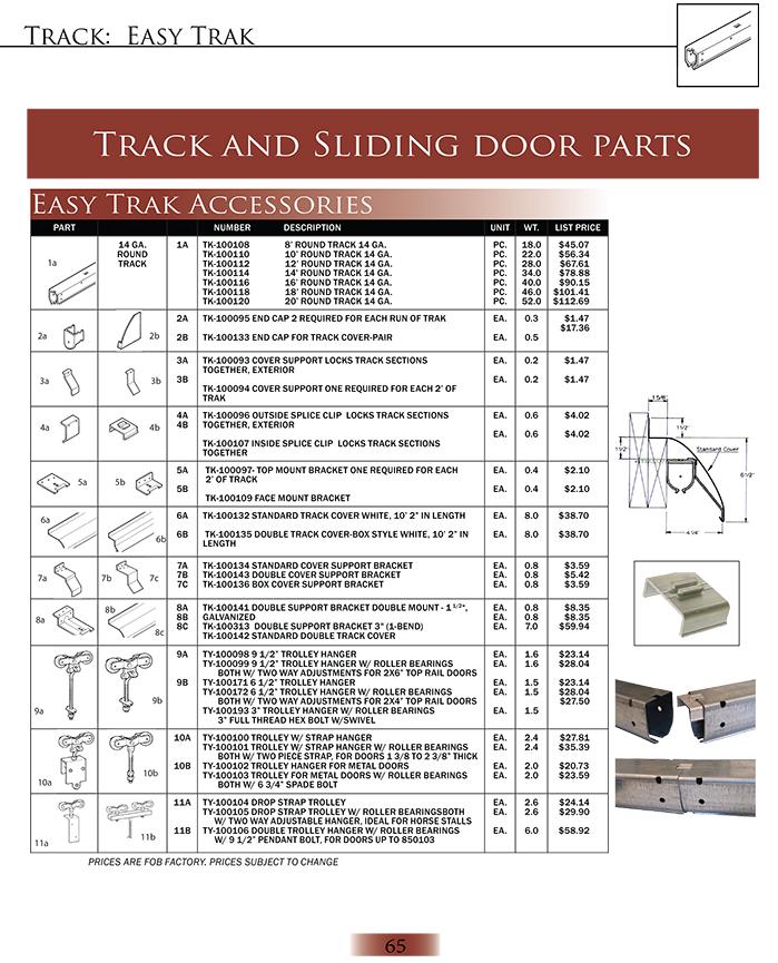 Easy Trak Accessories -1 | Harvard Products, INC