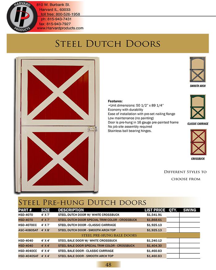 Steel Pre-Hung Dutch Doors