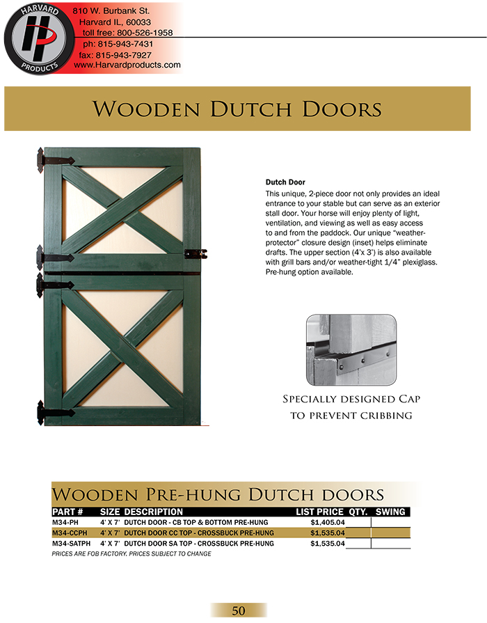 Wood Dutch Doors