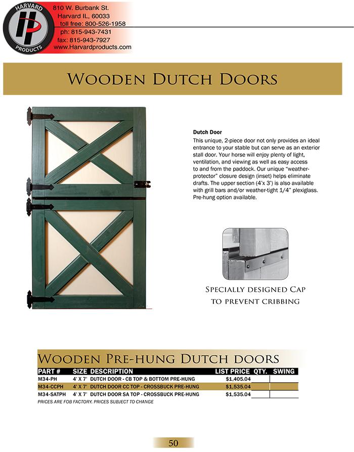 Wood Dutch Doors