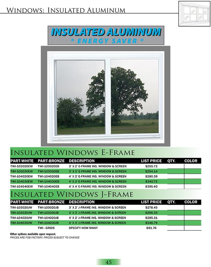 Insulated Aluminum Windows